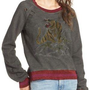 PAM&GELA Embroidered Split Back Sweatshirt